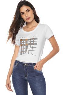 Camiseta Aleatory Estampada Branca