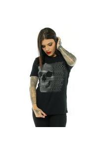 Camiseta Bossa Brasil Web Skull Preto