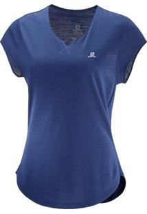 Camiseta Salomon X Ss Feminino M Violeta