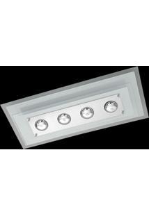 Plafon Saturno Aluminio E Vidro Pmr 138 Bordado Branco Bivolt