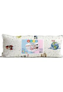 Travesseiro Body Pillow Kids Planetas Em Malha- Branco &Altenburg