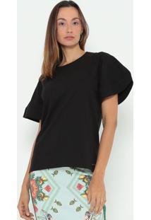 Camiseta Lisa- Preta- Colccicolcci