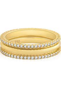 Aliança De Casamento Ouro Amarelo E Diamantes (5Mm)