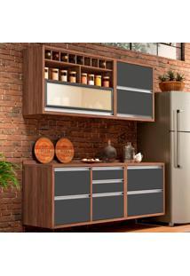 Cozinha Baronesa Completa - 4 Peças - 500248 - Grafite - Nesher