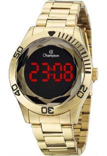 Relógio Champion Digital Ch48073H - Unissex-Dourado
