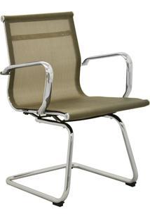 Cadeira Office Sevilha Fixa Tela Dourado Rivatti - Dourado - Dafiti