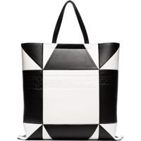 Calvin Klein 205W39Nyc Bolsa Tote De Couro - Preto c3b5679061