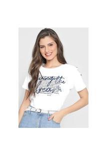 Camiseta Polo Wear Living The Dream Branca