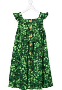 Dolce & Gabbana Kids Vestido Com Estampa De Folhas - Verde