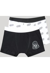 Kit De 2 Cuecas Infantis Boxer Star Wars Multicor