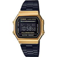 f0670cea850 Relógio Casio Vintage A168Wegb-1Bdf Digital - Unissex-Preto+Dourado