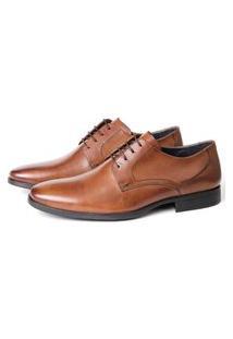 Sapato Social Savelli Masculino Couro Leve Conforto Marrom 38