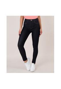 Calça Jeans Feminina Sawary Skinny Super Lipo Azul Escuro