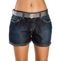 99c9d8aa2 Occhi Azzurri. Shorts Jeans Desfiado Barra Com Cinto ...