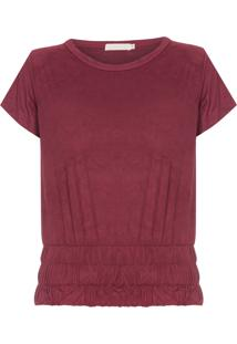 Camiseta Feminina Cactos - Vinho