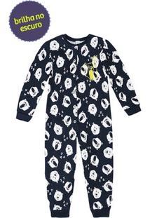 Pijama Macacão Infantil Menino Com Abertura Frontal Por Botões Puc [] []