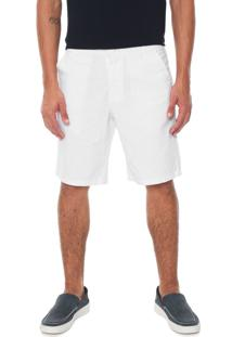 Bermuda Linho U.S. Polo Chino Lisa Off-White