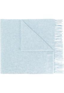 Acne Studios Cachecol Canada New Com Franjas - Azul