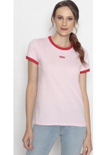 "Camiseta ""Levi'S®""- Rosa Claro & Vermelhalevis"