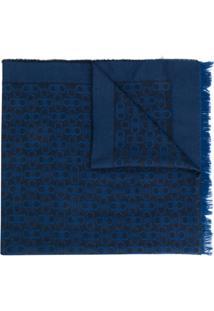 Salvatore Ferragamo Cachecol Com Logo - Azul