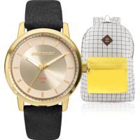 6a5deadc78f Eclock. Kit Relógio Feminino Mormaii Com Mochila Vintage