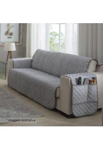 Protetor Para Sofá De 3 Lugares Matelassado- Cinza & Begsultan