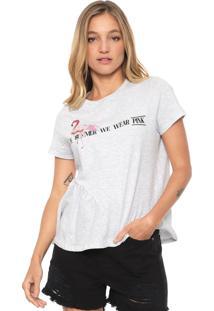 Camiseta Dzarm Bordada Escamas Cinza