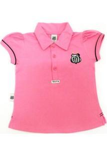 01671aed888b3 Camiseta Polo Reve D'Or Sport Santos Rosa