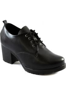 Oxford Feminino Tratorado Salto Bloco 2020 Sapato Show 12913