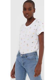 Camiseta Gap Frutas Off-White