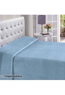 Manta Flanel King Size- Azul Claro- 220X240Cm- Bbuettner