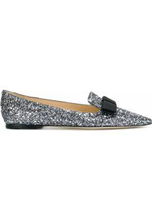 Jimmy Choo Slipper 'Gala' - Metálico