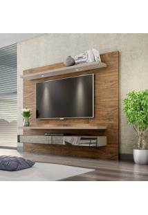 Home Suspenso Para Tv Até 50 Polegadas Tb108 Com Led E Espelho 100 Mdf Nobre/Fendi Dalla Costa