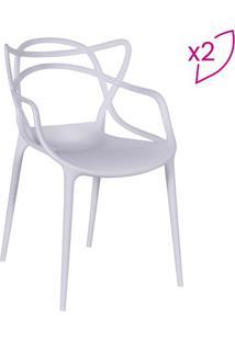 Jogo De Cadeiras De Jantar Solna- Branco- 2Pçs- Or Design