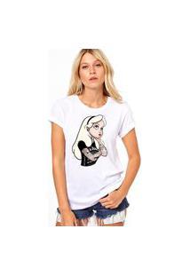 Camiseta Coolest Alice Gótica Branco