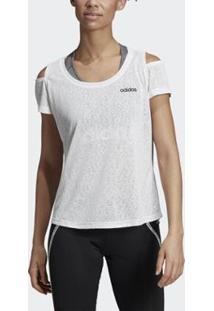 Camiseta Adidas W Xpr Co Feminina - Feminino-Branco