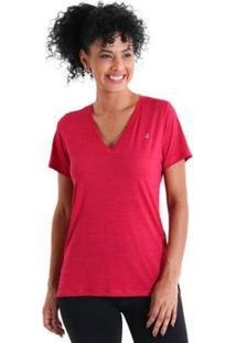 Camiseta Gola V Energy Feminnina - Feminino-Rosa