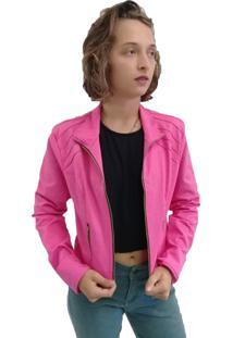 Jaqueta Bazz Sarja Nervura Rosa Pink - Kanui