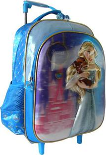 Mochila Escolas Sweet Girl- Azul Claro & Rosa- 41X31Santino