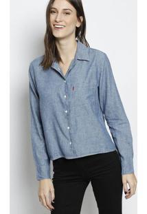Camisa Jeans Com Bolso- Azullevi S c18792c6609
