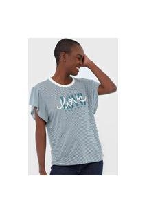 Camiseta Tricats Love Off-White/Verde