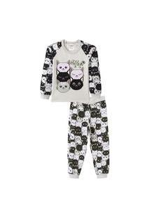 Conjunto Pijama Infantil Brilha No Escuro Sleep Mescla