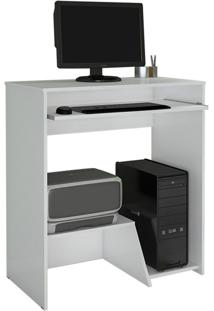 Escrivaninha/Mesa Para Computador Iris Jcm Movelaria Branco Cor:Branco