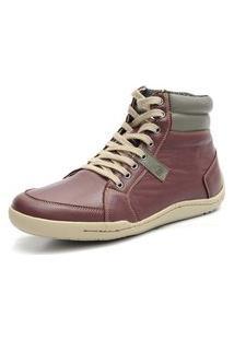Bota Casual Masculina Shoes Grand 801/3 Vinho - Cinza