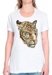 Tigre E Borboleta - Camiseta Basicona Unissex