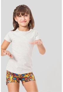 Camiseta Infantil Minina Reserva Mini Feminina - Feminino-Off White