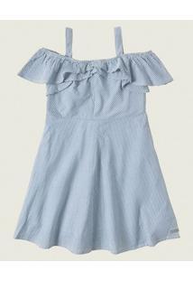Vestido Evasê Ana Ruga Malwee Kids Azul - 8