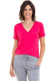 Camiseta Aura Costas Tule Pink - Pink - Feminino - Dafiti
