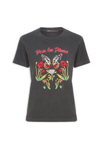 Camiseta Feminina Fleurs - Preto