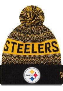 472ba3edc3aa6 Gorro Touca Pittsburgh Steelers Wintry Pom New Era - Unissex
